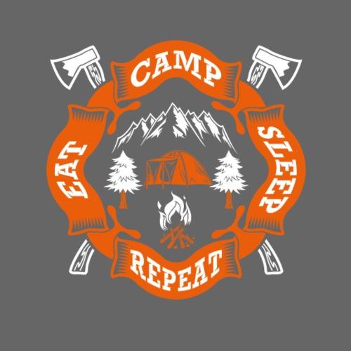 Eat Sleep Camp - Camper T-Shirt - Turnbeutel
