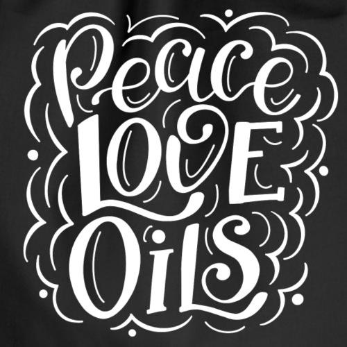 Peace Love Oils in weiß - Turnbeutel