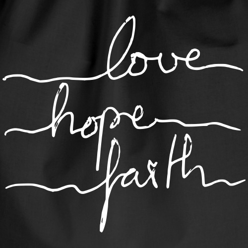 LoveHopeFaith Typo - Turnbeutel