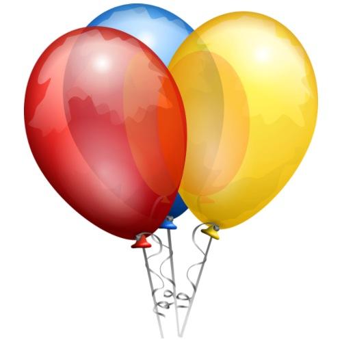 Bunte Luftballons + Luftballon- Hund - Turnbeutel