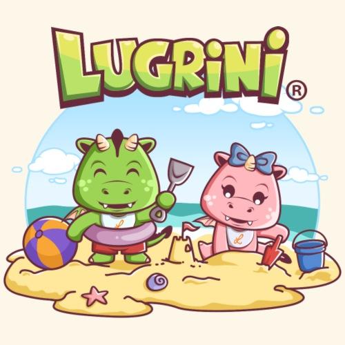 Lugrini und Lugrina spielen am Strand - Turnbeutel