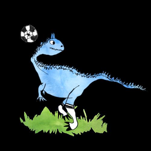 Fussball-Dino: fieses Passspiel? - Turnbeutel