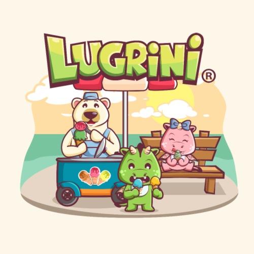 Lugrini und Lugrina essen ein Eis..oder auch zwei. - Turnbeutel