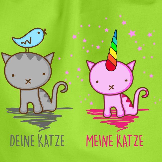 Vorschau: Deine Katze vs. Meine Katze - Turnbeutel