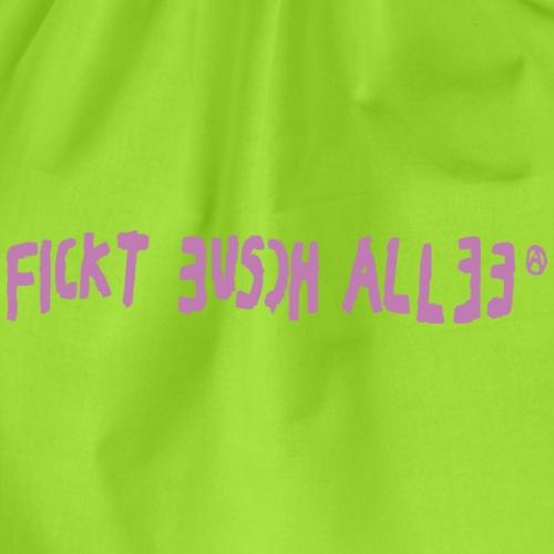 Fickt Eusch Allee (pink) - Turnbeutel