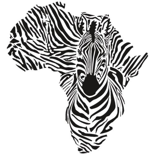 Schwarzer Kontinent in einer Zebratarnung - Turnbeutel