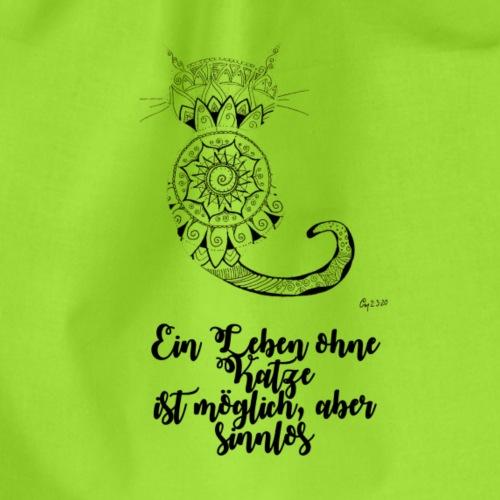 Mandala Katze, Ein Leben ohne Katze ist möglich - Turnbeutel