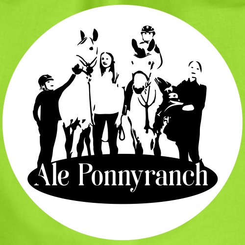 Ale Ponnyranch, vit bakgrund - Gymnastikpåse