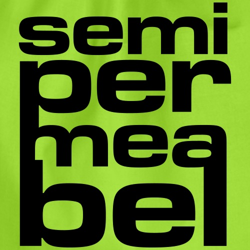 semipermeabel - Turnbeutel