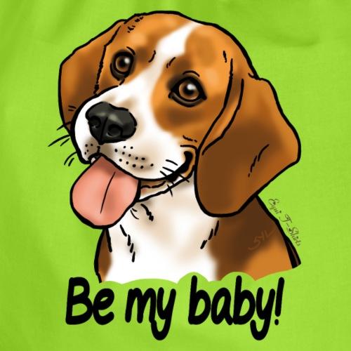 Chien beagle Be my baby (texte noir) - Sac de sport léger