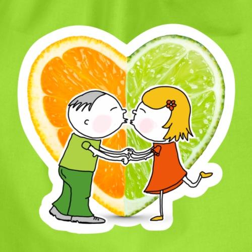 Orange kissing Lime - Turnbeutel