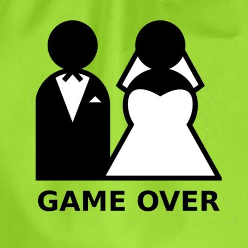 T-Shirt Game Over Junggesellenabschied - Turnbeutel