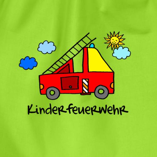 Kinderfeuerwehr : hübsches Feuerwehrmotiv - Turnbeutel