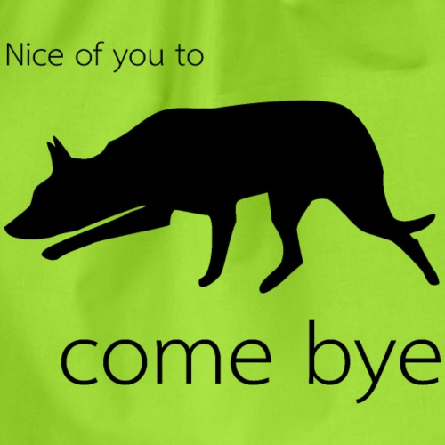 Nice of you to come bye - Turnbeutel