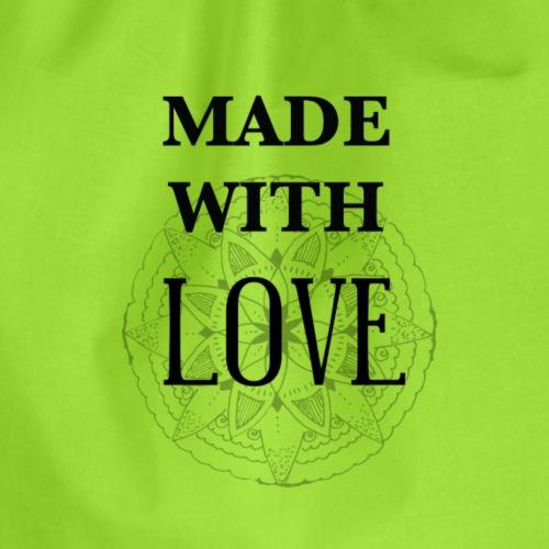 Made with Love -für alles durch Liebe entstandene - Turnbeutel