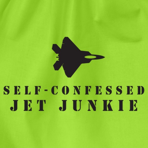 Jet Junkies 'Self-confessed Jet Junkie' Rapter - Drawstring Bag
