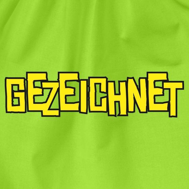 Gezeichnet Logo Gelb