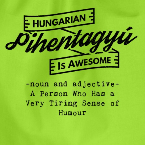 Pientagyu - Hungarian is Awesome (black fonts) - Drawstring Bag