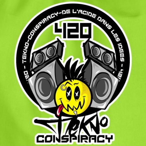 420 tekno conspiracy rave wear - Sac de sport léger