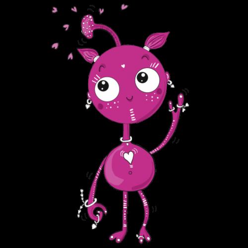 Kleines außerirdisches Mädchen - Turnbeutel