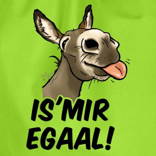 Esel Is'Mir Egaal! (schwartzer text) - Sac de sport léger