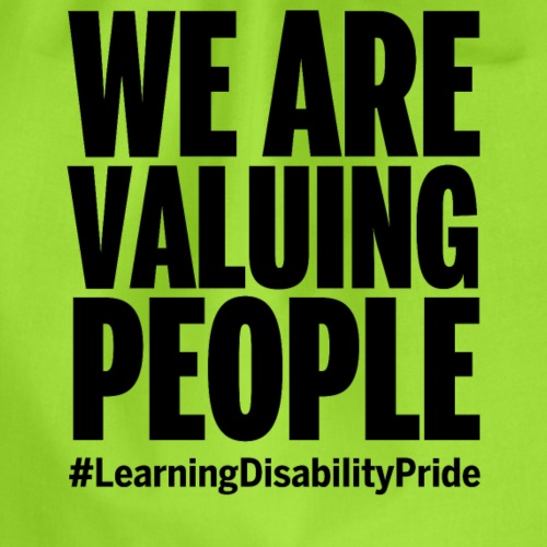 We Are Valuing People - Drawstring Bag