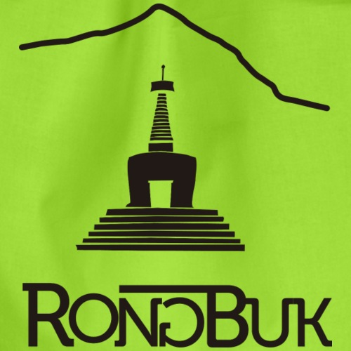 Rongbuk Black - Drawstring Bag