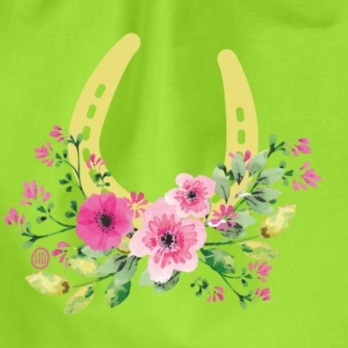 Blumen Hufeisen - Reitbekleidung - Turnbeutel