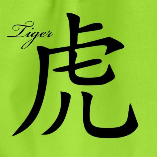 Tiger Chinesisch - Turnbeutel