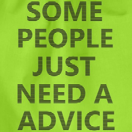 Some people need advice - Gymtas