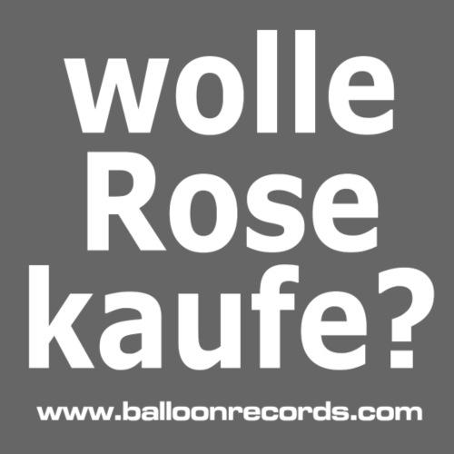Wolle Rose Kaufe (weisse Schrift) - Turnbeutel