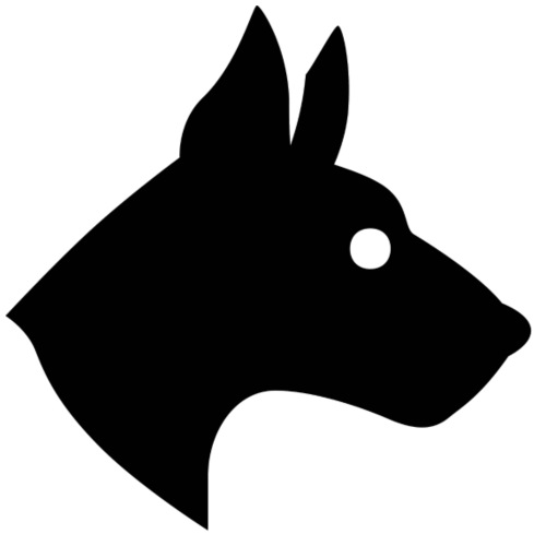 dog black - Sacca sportiva