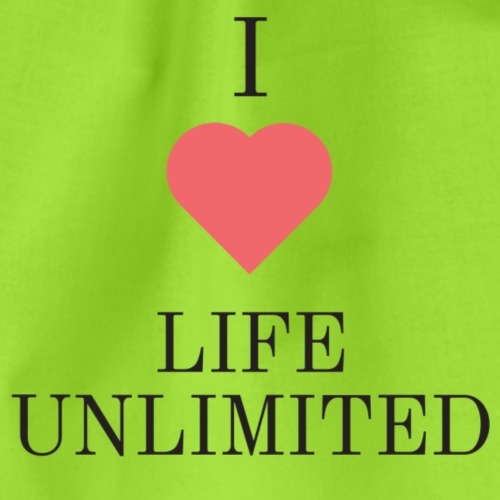 I Love Life Unlimited black text - Sac de sport léger