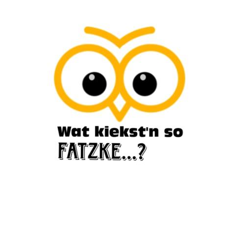 war kiekst n so Fatzke - Turnbeutel
