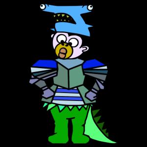 QueenKong Boy, Hai - Ritter - Dino - Turnbeutel