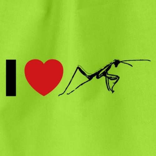 I ❤️ Mantis - Turnbeutel