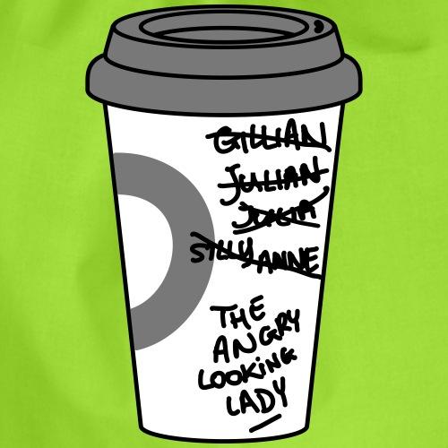 Koffie kop met verkeerd gespelde naam - Jillian - Gymtas
