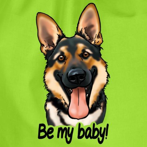 Chien berger allemand Be my baby! (texte noir) - Sac de sport léger