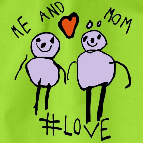 Me and Mom #Love - Drawstring Bag
