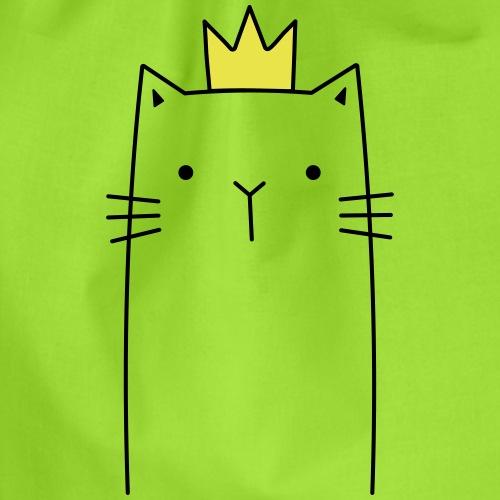 Katze mit Krone Queen Königin Prinzessin Geschenk - Turnbeutel