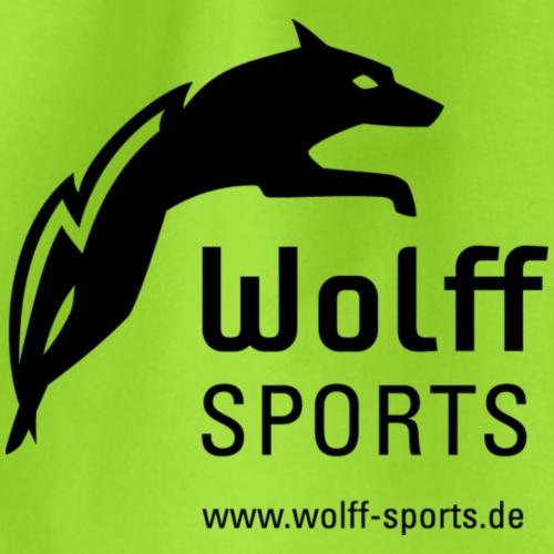Wolff Sports black mit Domain - Turnbeutel