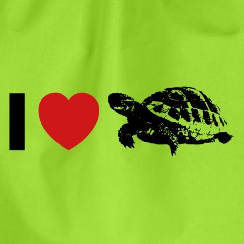 I ❤️ Schildkröte - Turnbeutel