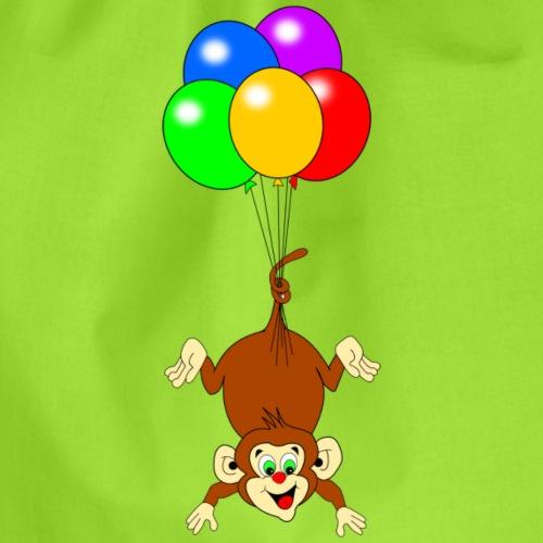 Affe mit Luftballons - Turnbeutel