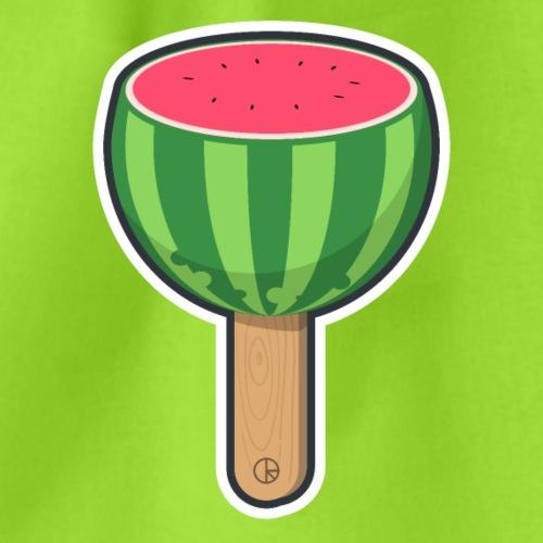 Wassermelone am Stiel - Turnbeutel