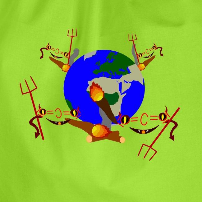 CO2 Klimawandel Chemie Erwärmung Spruch lustig
