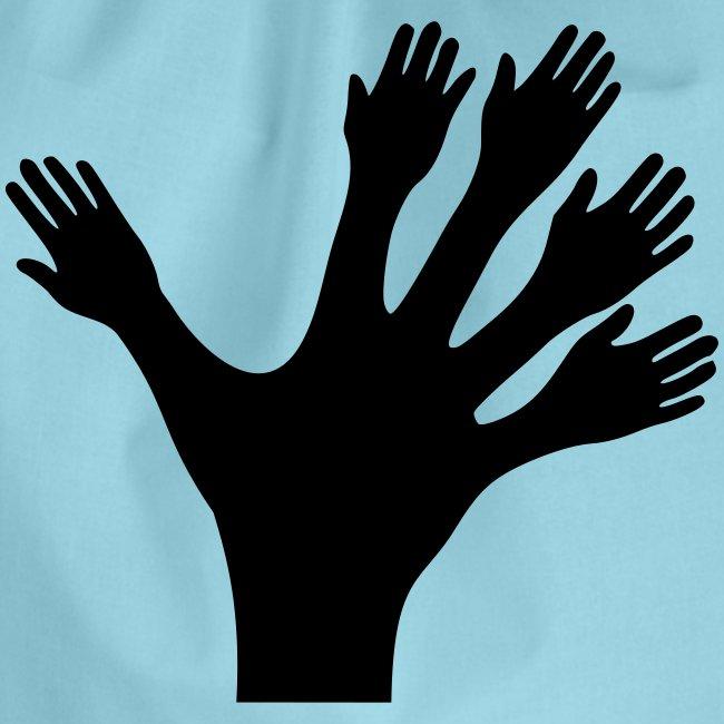 1000 Hände viel Arbeit wackeln machen tun schnell