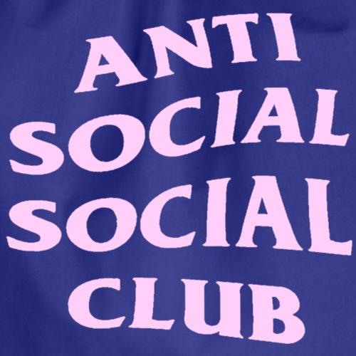 Anti social social club pink - Gymnastikpåse
