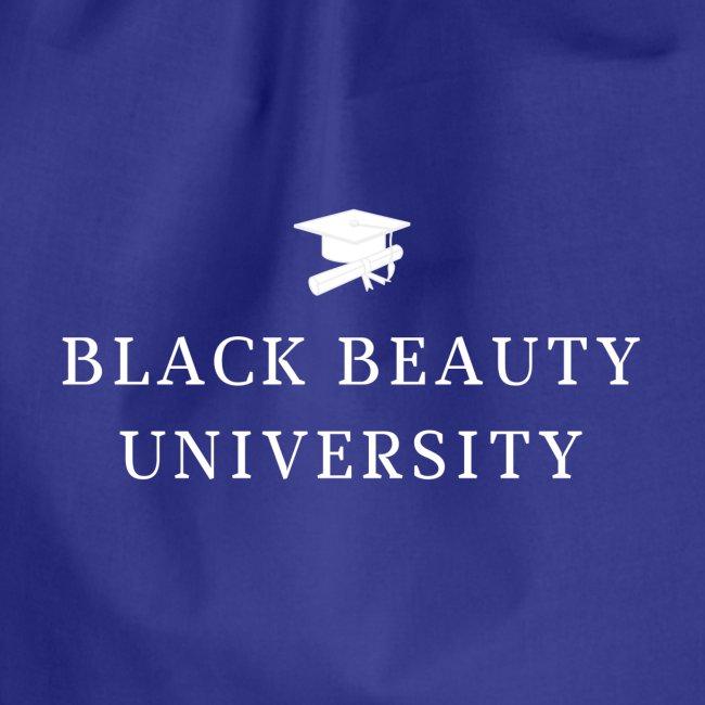 BLACK BEAUTY UNIVERSITY LOGO BLANC