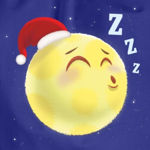 Schlafender Mond – lustige Illustration für Kinder - Turnbeutel