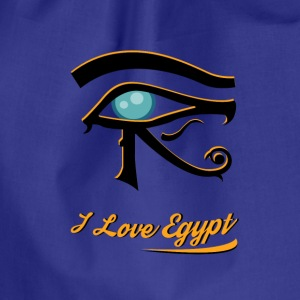 i love Egypt 1 - Drawstring Bag